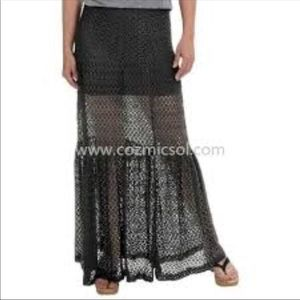 Olivaceous maxi skirt small